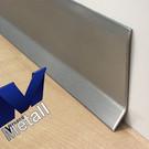 Versandmetall Sockelleiste Sockelblende Fussleiste 1,0mm 2x gekantet Edelstahl Außen Korn 320