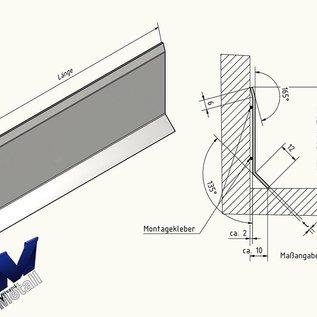 Versandmetall Plinthe plinthe inférieure 10mm 1,0mm 2x bord inox grain extérieur 320
