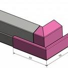 Versandmetall Goot P2 bakgoot gootprofiel buitenhoek 90° gemaakt van roestvrij Staal buitenzijde geschuurd
