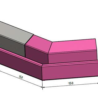 Versandmetall Gouttière de Pluie P2 - connecteur angle exterieur 135° - acier inox surface brossè  en grain 320