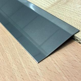 Versandmetall Profil de compensation Bande de transition en 4,5mm 1.4301 de la feuille IIID surface  miroir Plie 2 fois