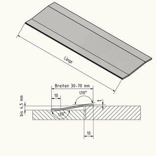 Versandmetall Bande de transition du profil de compensation 4,5mm 1.4301 surface brossé en grain 320