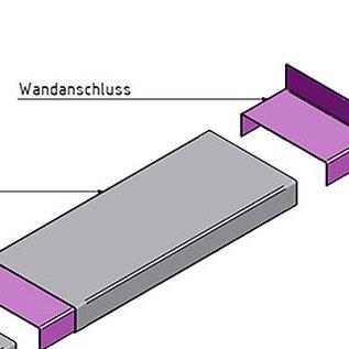 Versandmetall Wandanschlußstück für Mauerabdeckung Attikaabdeckung von Versandmetall Materialstärke 1,0 mm anthrazit
