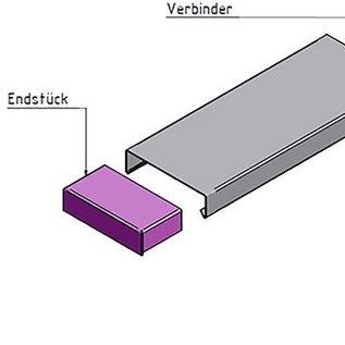 Versandmetall Muurafdekking Eindstuk materiaaldikte 1,0 mm gemaakt van Aluminium antrazit