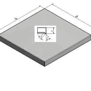 Versandmetall Couverture de mât pour couverture de maçonnerie Couverture de grenier de Versandmetall Épaisseur de matériau 1,0 mm Couleur antrazit
