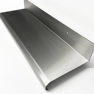Versandmetall Edelstahlbord Edelstahl Küchenregal stabil und edel geschliffen Korn 320.