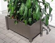 Pots de plantes en acier inoxydable