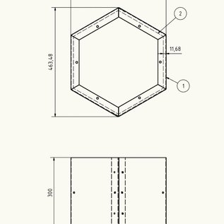 Versandmetall Modules d'extension étagère pour étagère d'incendie HEXAGON XL en acier enduit de poudre