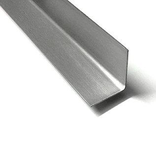 Versandmetall - 1 Stück Edelstahlwinkel 2,0mm I N N E N Schliff Korn 320, Schenkel axb 120x120mm Länge 1470mm