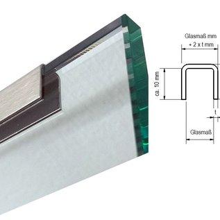 Versandmetall -32 Stück Einfassprofil U-Form Edelstahl 1,5mm dick für 8 mm Platten (axcxb 12,5x11x12,5mm) 28 Stck L 1500mm 4 Stck L 2000mm