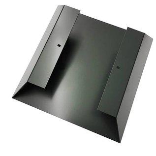 Versandmetall Legbord voor brandhout HEXAGON gemaakt van 2 modules met 2 Voetstukken van verschillende Maaten XL geproducered van staal oppervlakke poedercoated