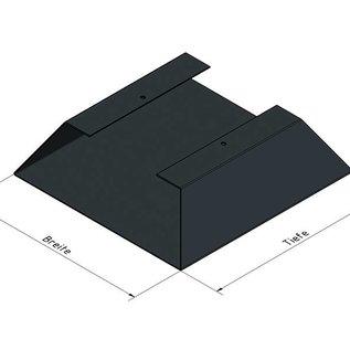 Versandmetall Ètagère de bois de chauffage HEXAGON composé de 3 modules et 2 Piedestals de différentes tailles XL produit en acier surface enduit de poudre