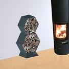 Versandmetall Ètagère -bois de chauffage HEXAGON 400  3 pieces produit en acier surface enduit de poudre