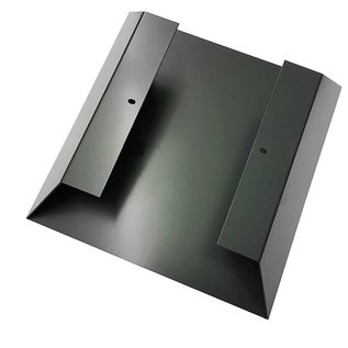 Versandmetall Legbord voor brandhout HEXAGON gemaakt van 2 modules van verschillende Maaten XL met voetstuk gemaakt van  staal oppervlakke poedercoated
