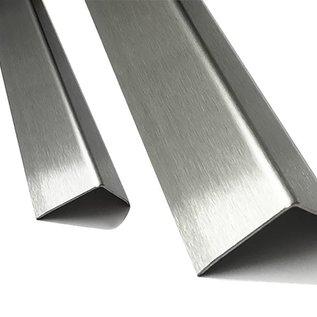 Versandmetall Kit d`economie, corniere de protection, pliée trois fois, 25x25x1mm longueur 2500 mm surface brossè en grain 320