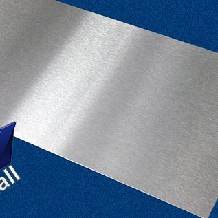 Versandmetall -3xSonderzuschnitt Edelstahl 1,0mm eins. längs geschiffen K320: 2x 14mmx690mm 1x14mmx565mm