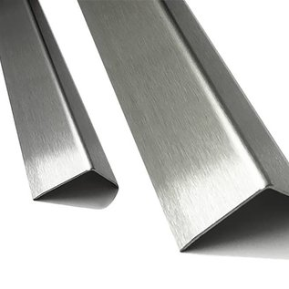 Versandmetall Kit économique de Corniére de protection inox  du bord 3 fois plié 30 x 30 x 1,5 mm longueur 1250 mm surface brossé en grain 320