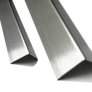 Versandmetall Kit économique  Corniére de protection inox  à 3 plis 40 x 40 x 1,0 mm Longueur 2500 mm surface brossé en grain320