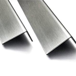 Versandmetall Cornière inox en tôle d'acier inoxydable inégal 90°, longueur 1000 mm