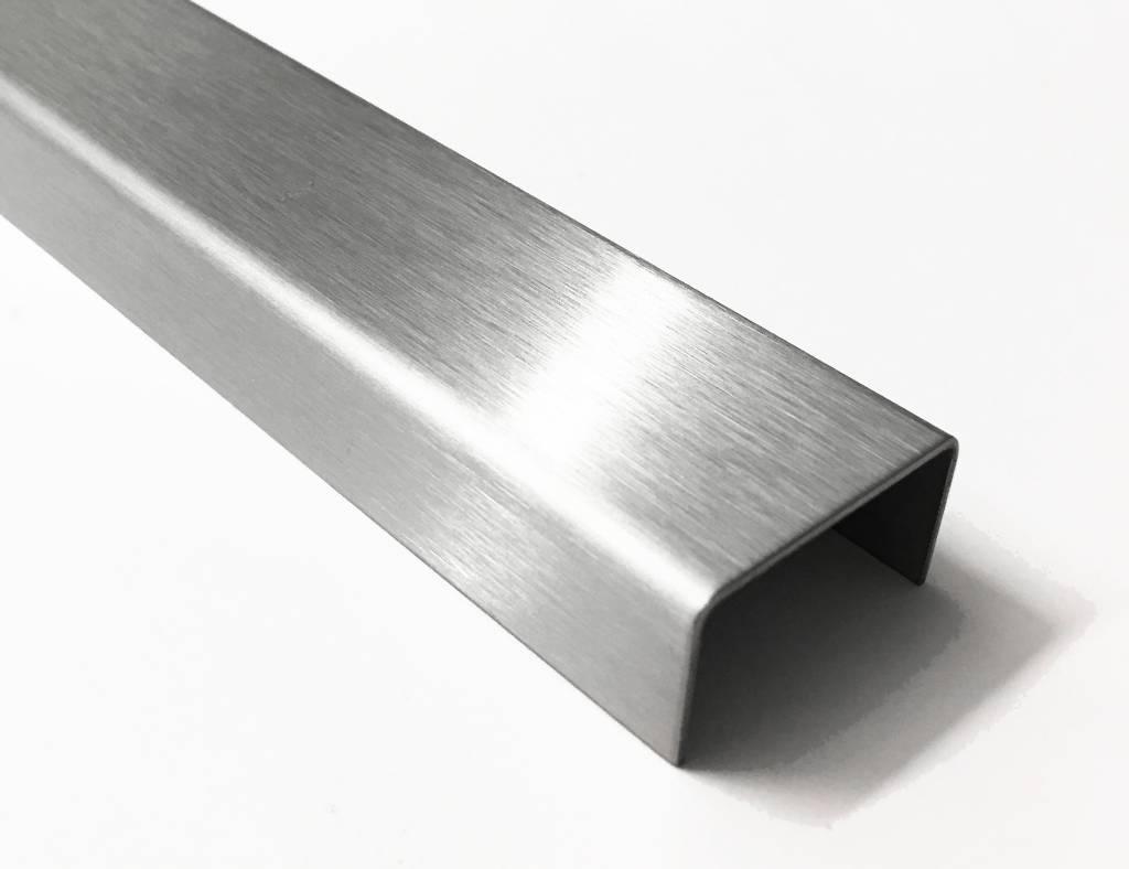 Favorit U-Profil aus Edelstahl 2-fach gekantet, Oberfläche auswählbar von GE82