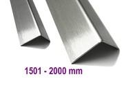 Hoekbescherming Hoeklijn Hoekstrip roestvrij staal tot 2000 mm (2,0 m) Lengte