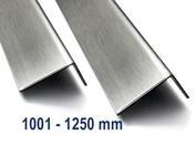 Hoekprofiel Hoeklijn, Hoekstrip,, van roestvrij staal tot met 1.250 mm (1,25 m) lengte