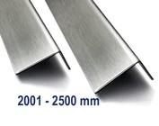 Hoekprofiel Hoeklijn Hoekstrip gemaakt van roestvrij staal tot met 2500 mm (2,5 m) Lengte