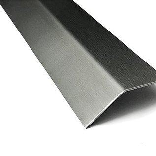 Versandmetall RVS 304 Hoekprofiel Hoekstrip L-Profiel roestvrij Staal gezet gelijk 135° Lengte 1000 mm