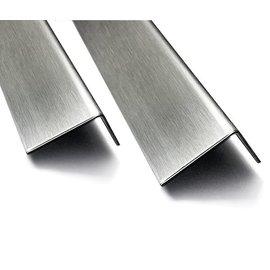 Versandmetall Cornière inox en tôle d'acier inoxydable isocéle 90°, longueur 2000 mm