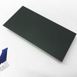 Versandmetall 8 Stück Verkleidungsbleche 940x464mm allseitig 10 mm umgekantet, 1,0mm Aluminium  anthrazit (ähnl RAL 7016)