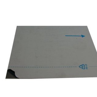dunne plaat Aluminium van 25mm tot 150 mm Breedte en lengte 1500 mm met Folie