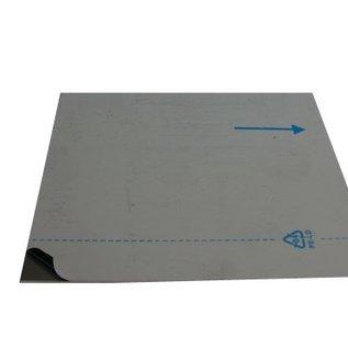 dunne plaat AlMg1 eloxiert E6/EV1 van 25mm tot 150 mm Breedte en lengte 1250 mm met Folie