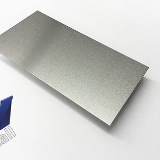dunne plaat Aluminium van 160 mm tot 300 mm Breedte en lengte 1250 mm met Folie