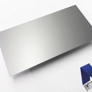 dunne plaat AlMg1 eloxiert E6/EV1 van 160 mm tot 300 mm Breedte en lengte 1250 mm met Folie