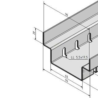 """Versandmetall -Set  30m (15x2m ) Draingoten Afvoergoten Roostergoot vorm """"A"""" Aluminium of RVS met Rooster van roestvrij Staal breedte Inlaat 90 - 190 mm lage inbouwhoogte - Copy"""