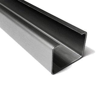 Versandmetall Profil en C acier inoxydable surface brossé en grain 320  hauteur 30 mm largeur c = 40 à 80 mm longueur 1000 mm