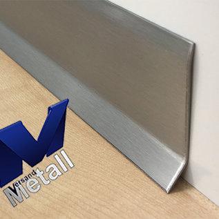 Versandmetall Sockelleiste 2 Sockelblende Fussleiste 1,0mm unten 16mm 2x gekantet Edelstahl Außen Korn 320