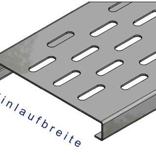 Versandmetall Verstärkung Serie F (Fx) 140/25 aus Edelstahl - Für Schlitzrost Einlaufbreite 140mm