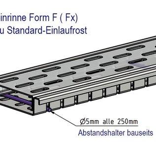 Versandmetall Drainagerinne aus Aluminium Einlaufbreite 90mm Bestellmengen 10m, 20m, 30m, 40m, 50m