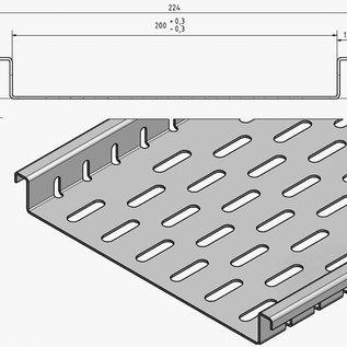 Versandmetall Caniveau plat avec perforation du fond en largeurs d'entrée en aluminium de 100 à 200 mm Drainage des surfaces