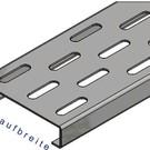 Versandmetall Schlitzrost für Drainagerinnen Einlaufbreite 100 bis 200mm