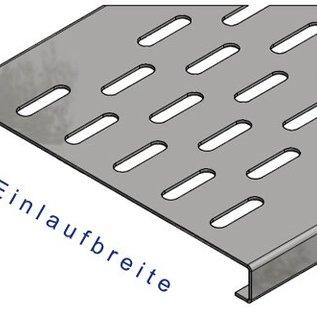 Versandmetall Renforcement Série F (Fx) 200/25 en acier inoxydable - Pour largeur d'entrée fendue 200mm