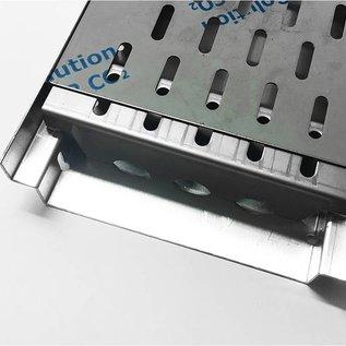 Versandmetall Renforcement Série A / B 200/45 en acier inoxydable - Pour largeur d'entrée de grille fendue 200mm