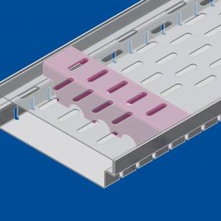 Versandmetall Versterking Serie A / B 140/45 in roestvrij staal - Voor sleufroosterinlaatbreedte 140 mm