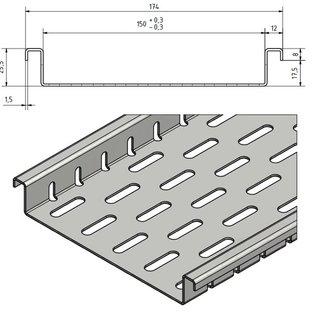 Versandmetall Caniveau de drainage en largeur d'entrée en aluminium 150mm quantités de commande 10m, 20m, 30m, 40m, 50m
