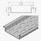 Versandmetall Roestvaststalen afvoerkanalen vormen Fx2 met bodemperforaties en slechts 25,5 mm hoge aanvoerbreedtes van 100 tot 200 mm