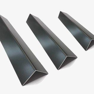 Versandmetall Aluminium hoek antraciet gelijkbenig 90 ° gevouwen tot een lengte van 1000 mm