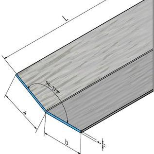 Versandmetall Aluminiumwinkel anthrazit ungleichschenkelig 90° gekantet bis Länge 1000 mm