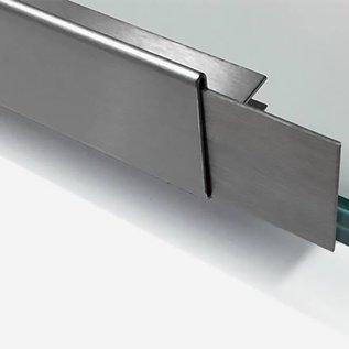 Versandmetall dakgoot roestvrij Staal vor glasdakken van 14mm 1.4301, geschuurd(grid320)
