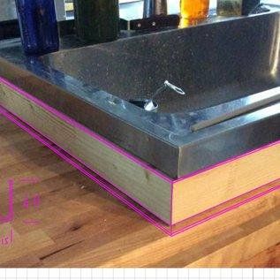 Versandmetall -Installer à l'intérieur Angle de protection des bords plié en 3 fois Épaisseur du matériau 1,5 mm axb 60 x 15 mm Longueur 2x630mm 2x800mm Biseau intérieur K320 scié mitre